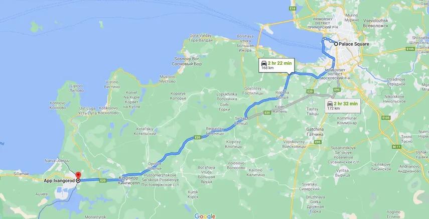 Transfer to Narva - Ivangorod St Petersburg