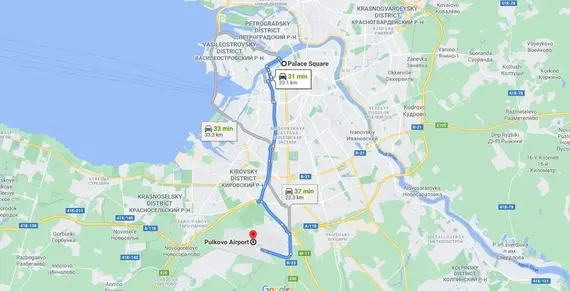 St Petersburg Pulkovo Airport Transfer and Taxi
