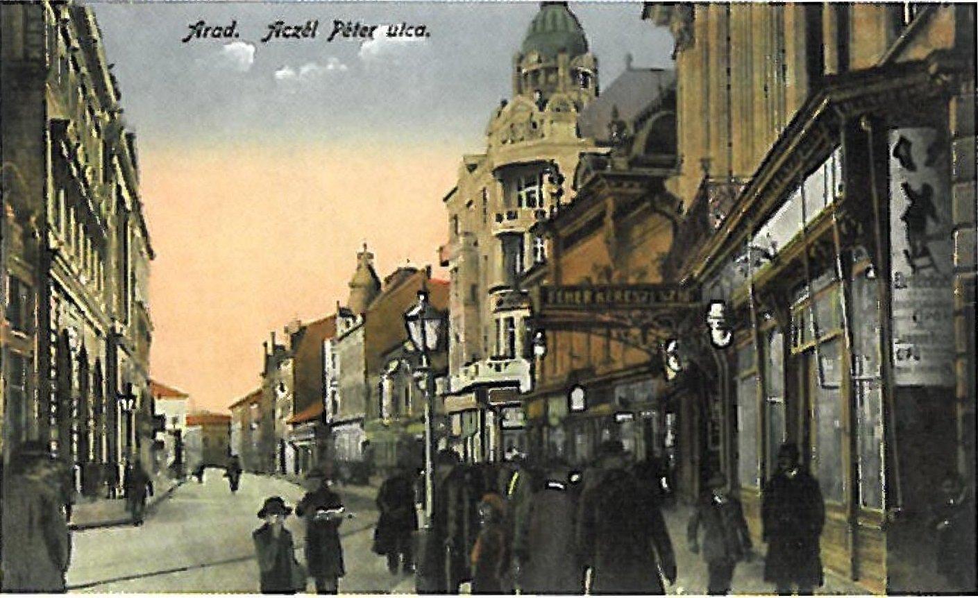 Aradi Feher Kereszt szalloda 1900