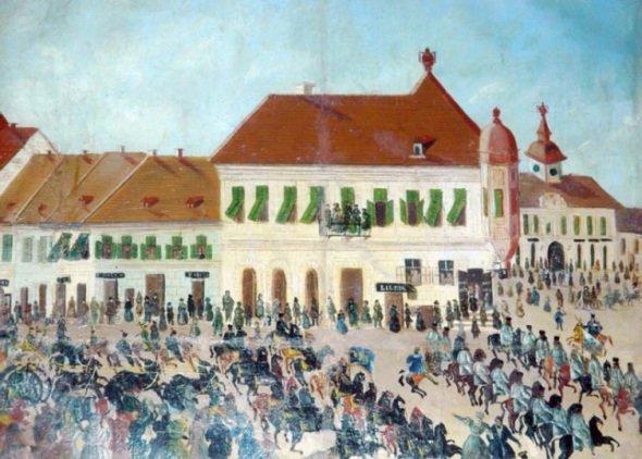 Aradi-városháza-1834-festmény