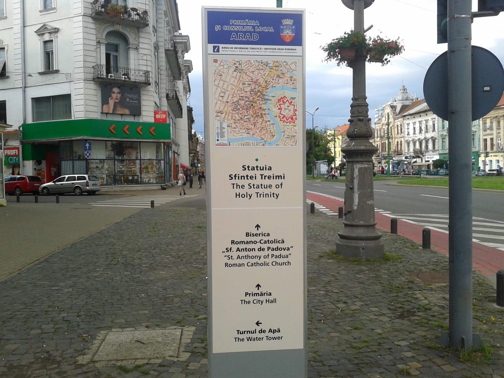 indicator turistic arad