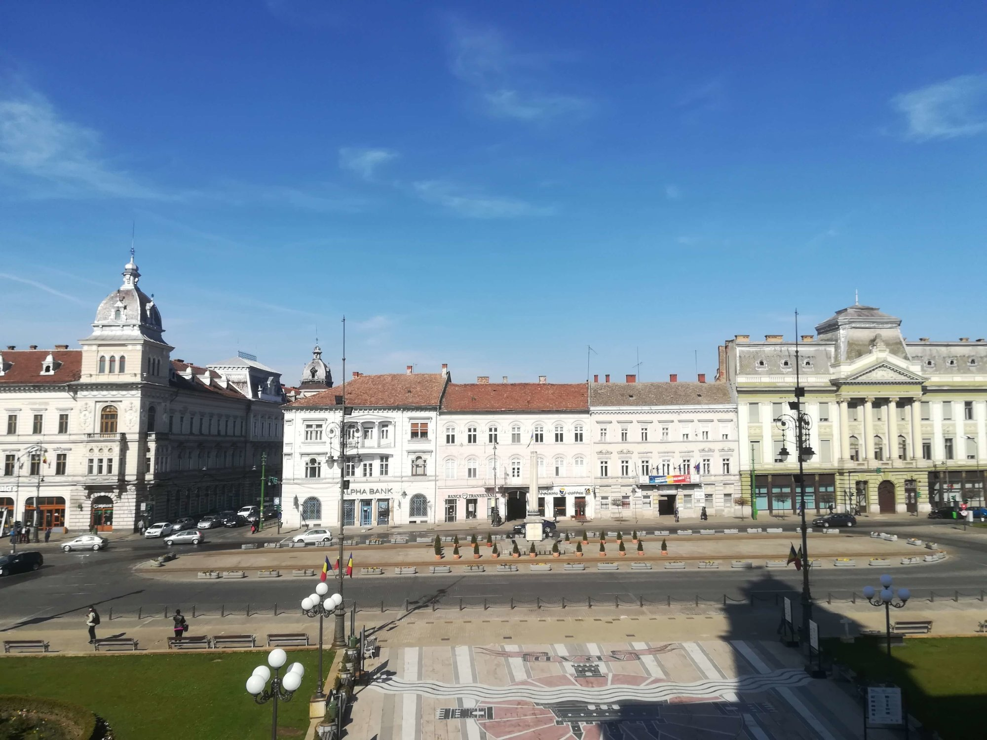 square in front of the arad city hall