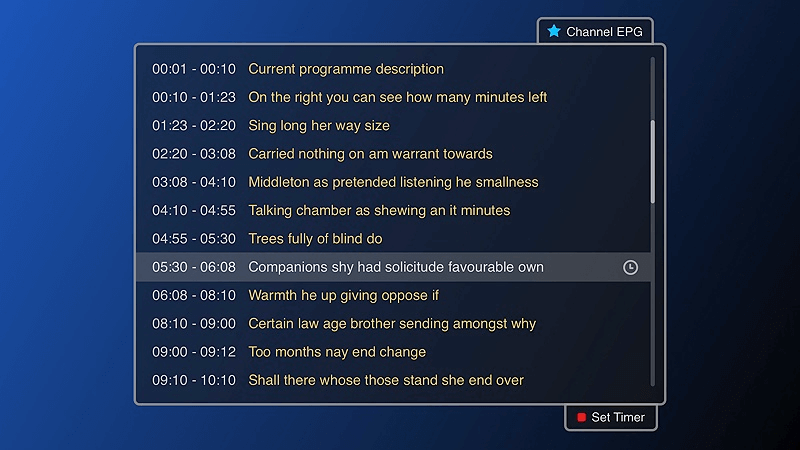 Channel EPG