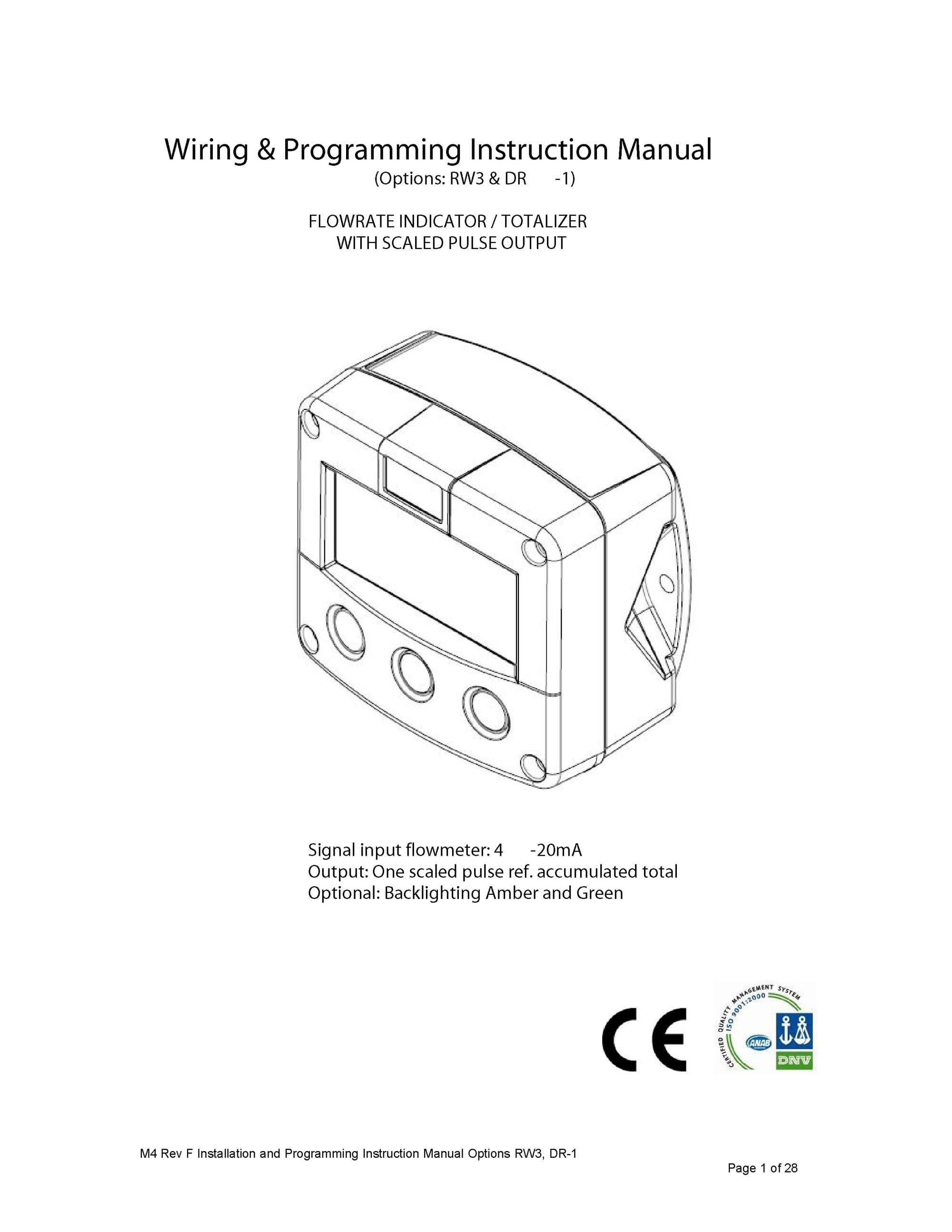 Digital Display Instruction Manual
